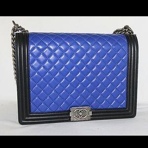 Colorblock Chanel Le Boy Bag pristine condition